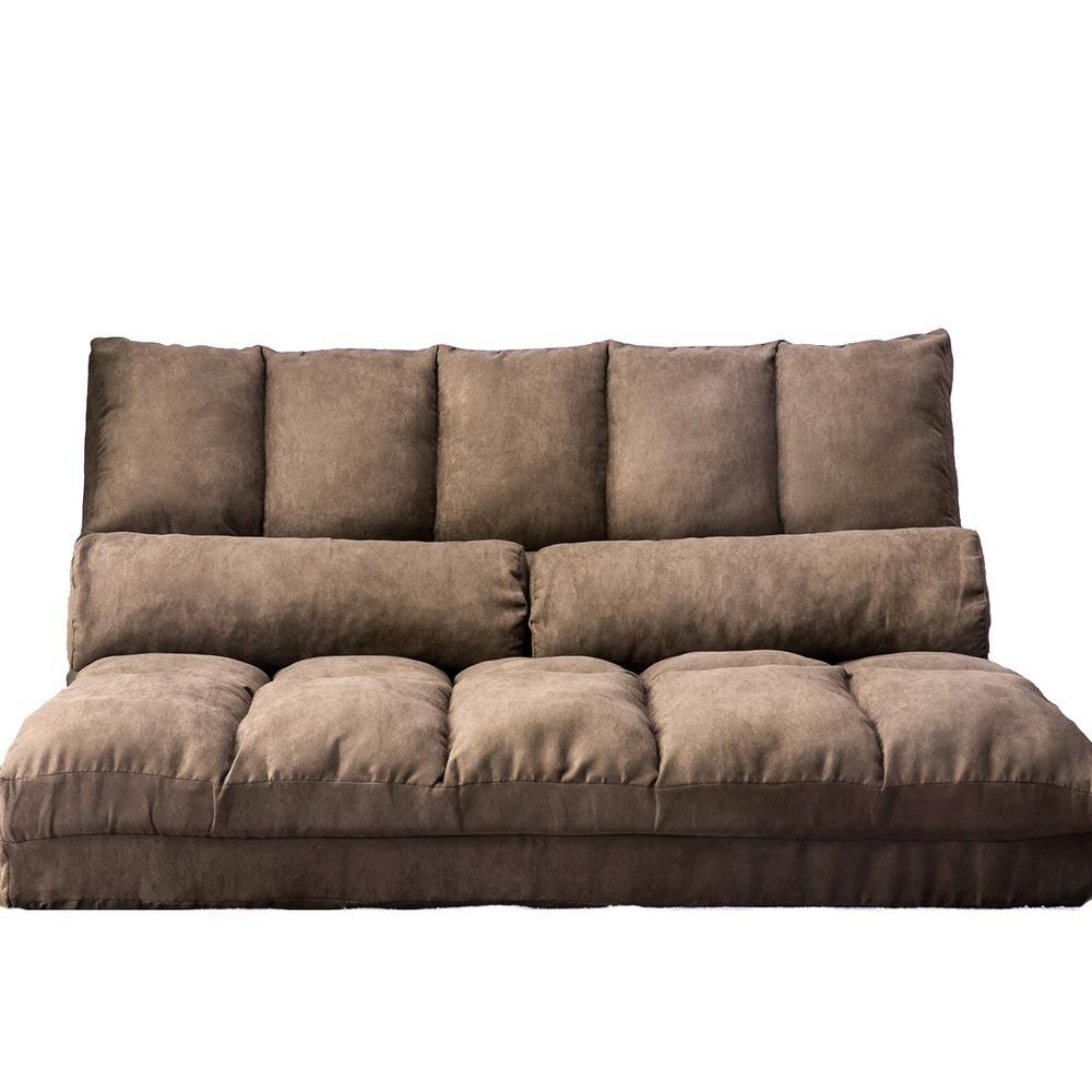 Brown Flip Floor Futons Sofa Chair