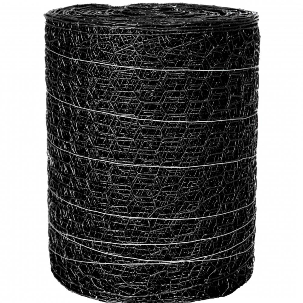 allFENZ 150 ft. x 24 in. Black PVC Poultry Netting