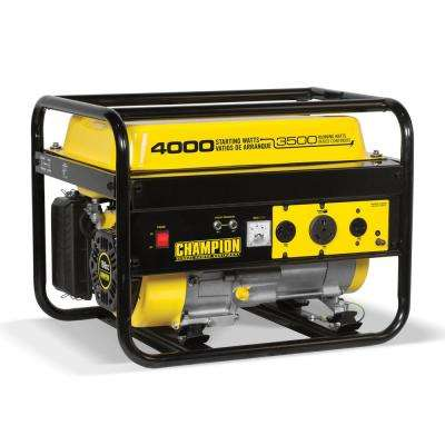 3500watt recoil start gasoline powered portable generator with rv ready