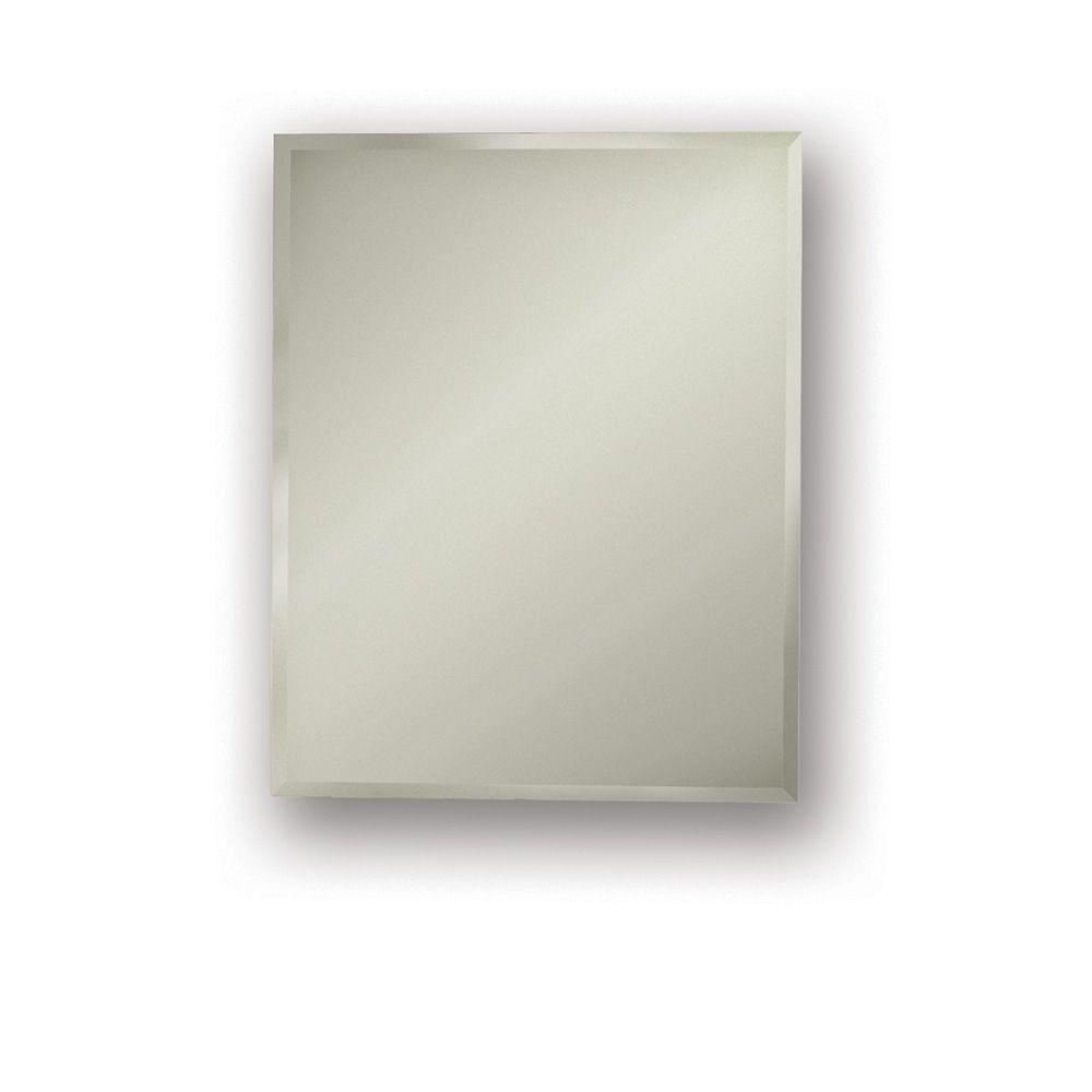 null Galena 16 in. W x 26 in. H x 4.5 in. D Recessed Medicine Cabinet in Brushed Stainless Steel