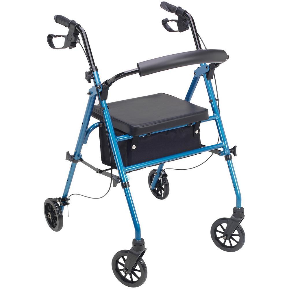 4-Wheel Standard Rollator in Sky Blue
