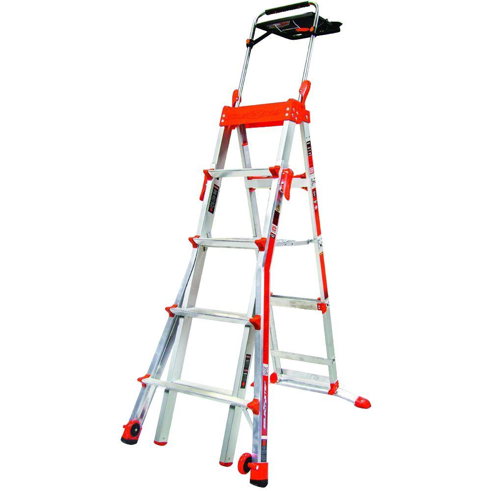 Little Giant Ladder Systems 8 ft. Aluminum Select Step Multi-Position Ladder with 300 lbs. Load Capacity Type IA Duty Rating