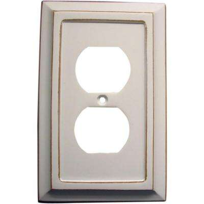 Savannah 1 Duplex Wall Plate - White