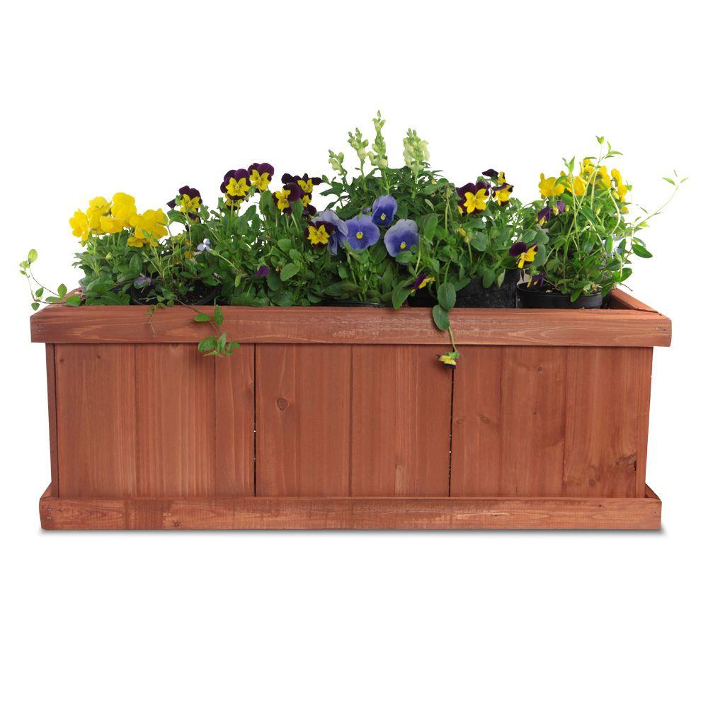 Wood Window Planter Box  sc 1 st  Home Depot & Pennington 28 in. x 9 in. Wood Window Planter Box-100045296 - The ...