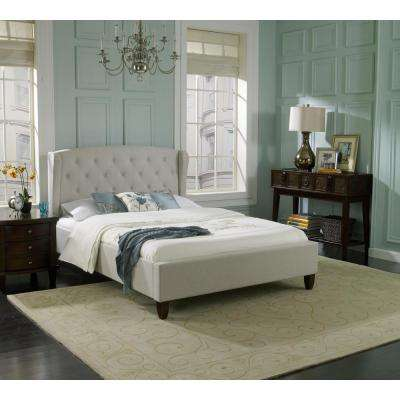 London Taupe Queen Upholstered Bed