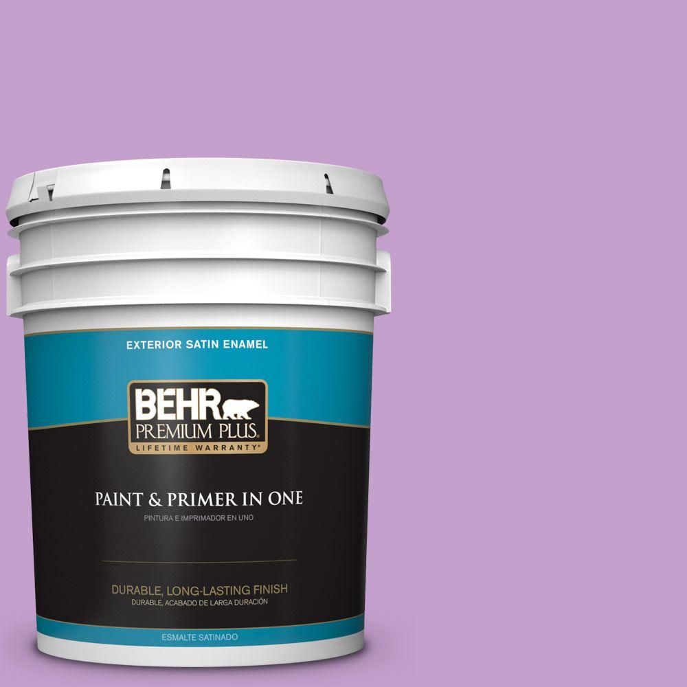 BEHR Premium Plus 5-gal. #P100-4 Lover's Knot Satin Enamel Exterior Paint