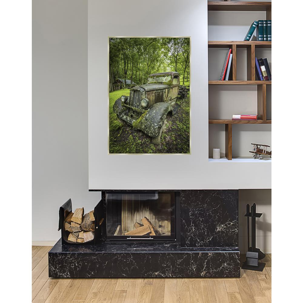 37.5 in. x 25.5 in. 'Keep on Truckin' by Jason Clemmons Fine Art Canvas Framed Print Wall Art