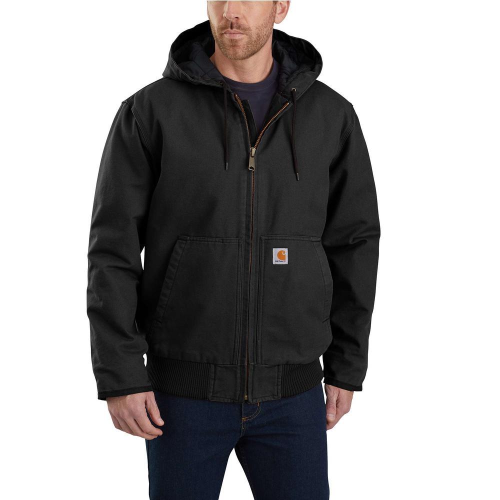 Men's Large Black Cotton Duck Active Jacket