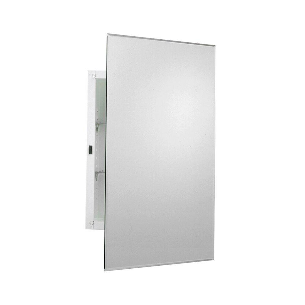 zenith 16 in w x 26 in h frameless recessed or surface mount rh homedepot com home depot medicine cabinets with lights home depot medicine cabinets surface mount