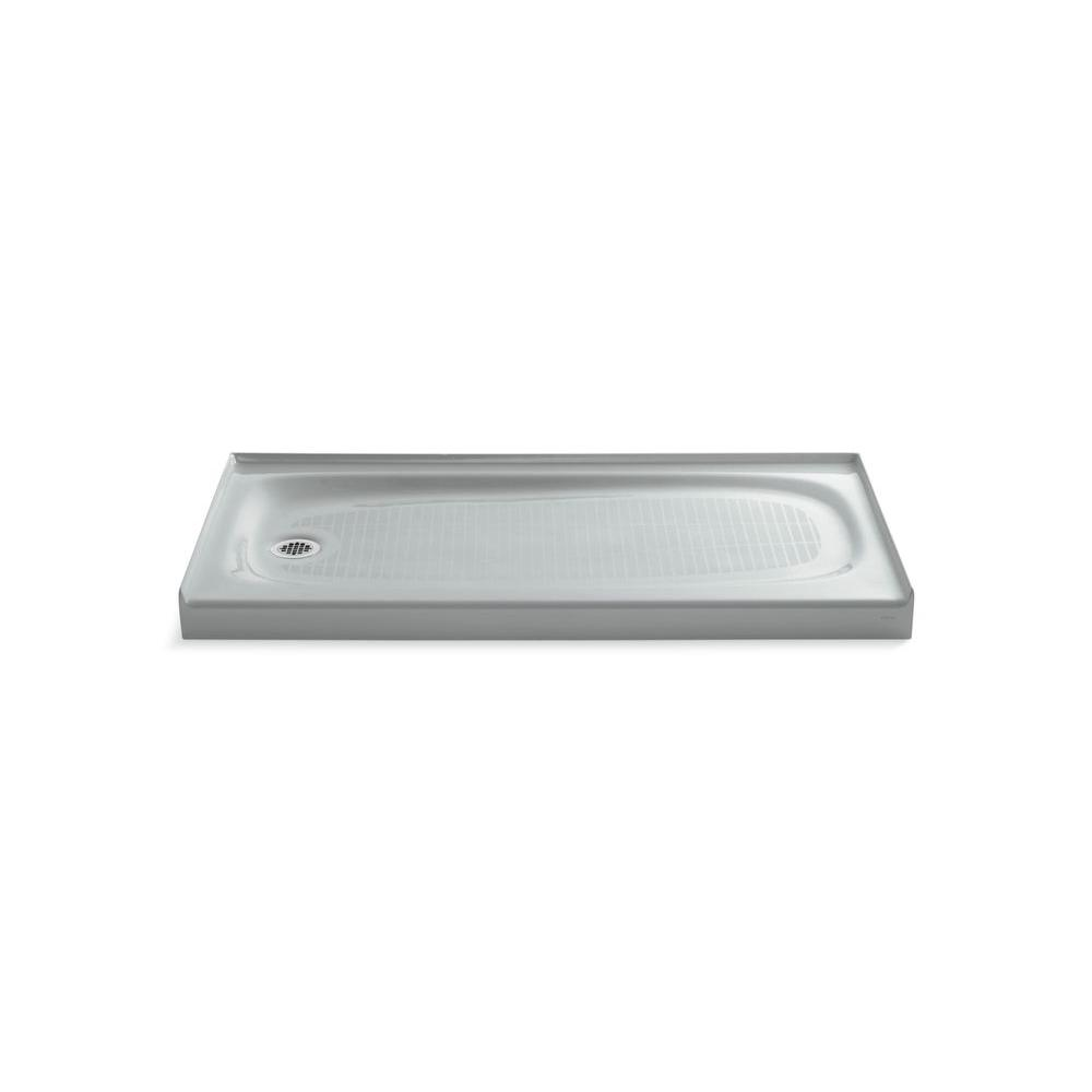 KOHLER Salient 60 in. x 30 in. Single Threshold Shower Base in Ice Grey