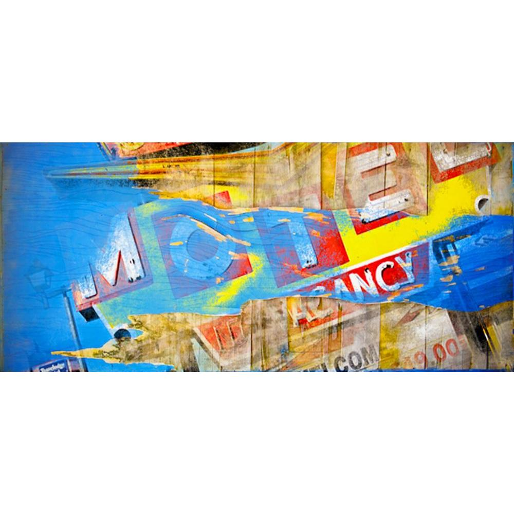 ZUO 54 in. x 38 in. Motel Adventure Hand Painted Artwork