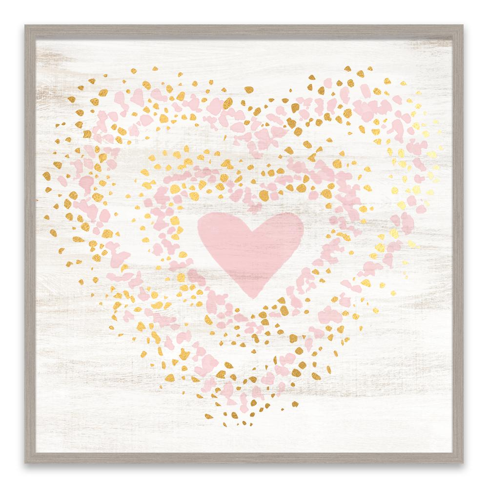Speckled gold heart by lot26 studio wood wall art