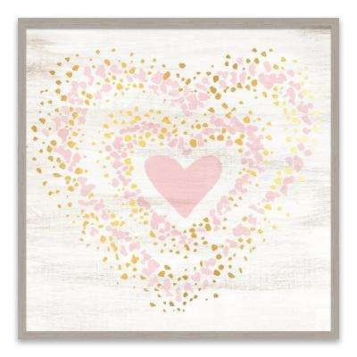 """Speckled Gold Heart"" by Lot26 Studio Wood Wall Art"