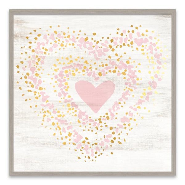Artissimo Designs ''Speckled Gold Heart'' by Lot26 Studio Wood Wall Art