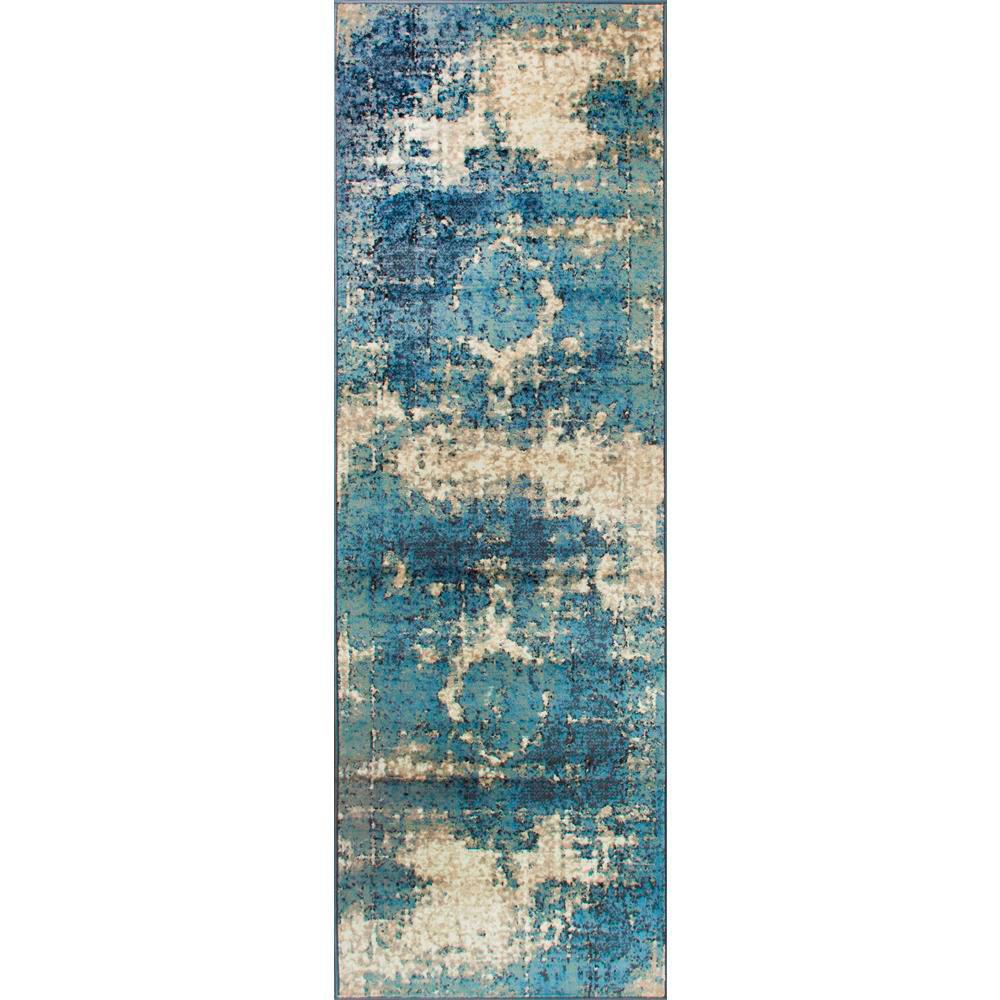 Vintage Lindsy Blue 3 ft. x 8 ft. Runner Rug