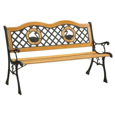Havasu 49 in. 2-Person Natural Oak Finish Outdoor Bench