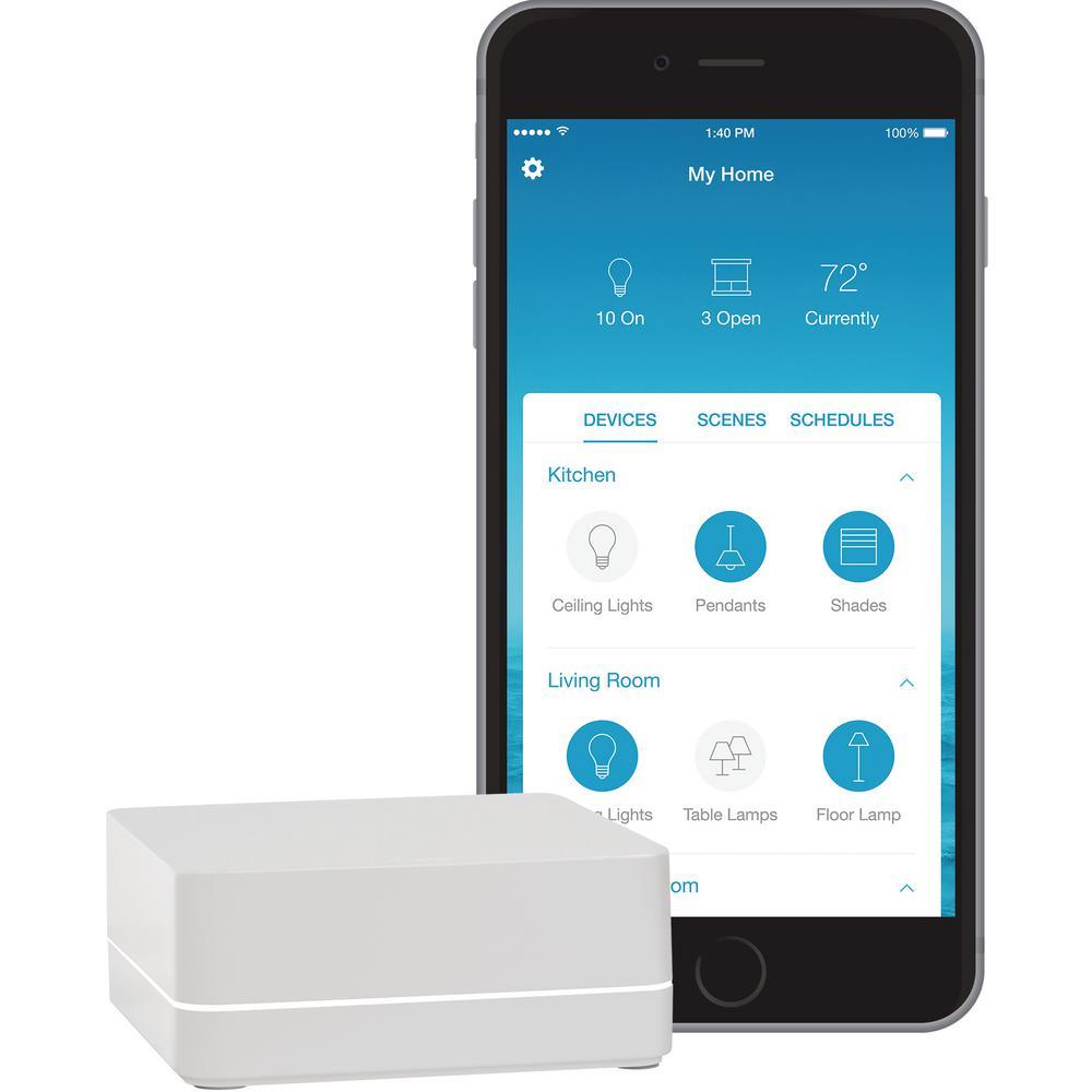 Lutron Caseta Wireless Smart Bridge-L-BDG2-WH - The Home Depot