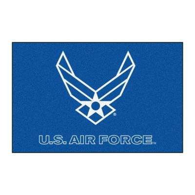 Military Blue 2 ft. x 3 ft. Rectangle Air Force Area Rug