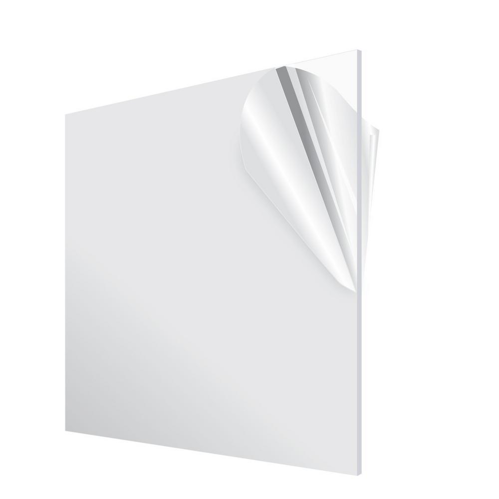 "Clear Acrylic Plexiglass sheet 3//8/"" x 12/"" x 12/"""