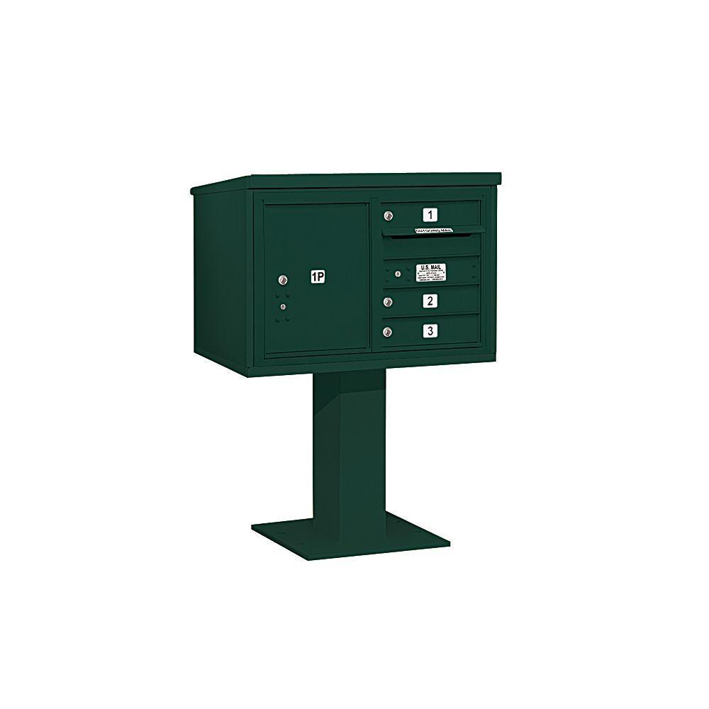 3400 Series 48-1/8 in. 5 Door High Unit Green 4C Pedestal