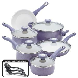 Farberware New Traditions 14-Piece Lavender Cookware Set with Lids by Farberware