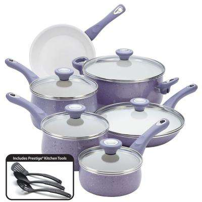 New Traditions 14-Piece Lavender Cookware Set with Lids