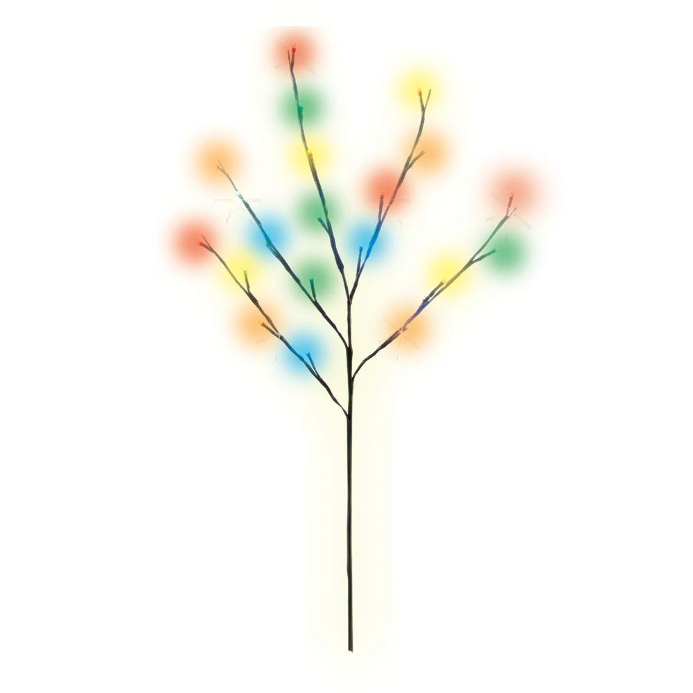 2.5 ft. Battery-Operated Multi-Colored LED Micro Mini Artificial Twig Tree