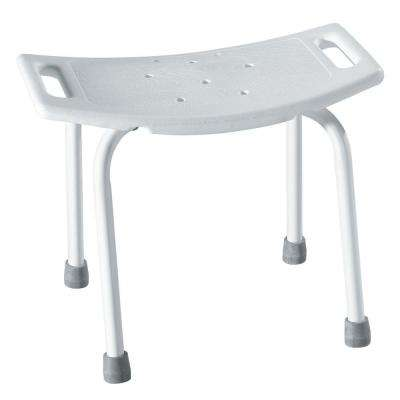 Home Care 20 in. W x 12 in. D Plastic Shower Seat in Glacier White