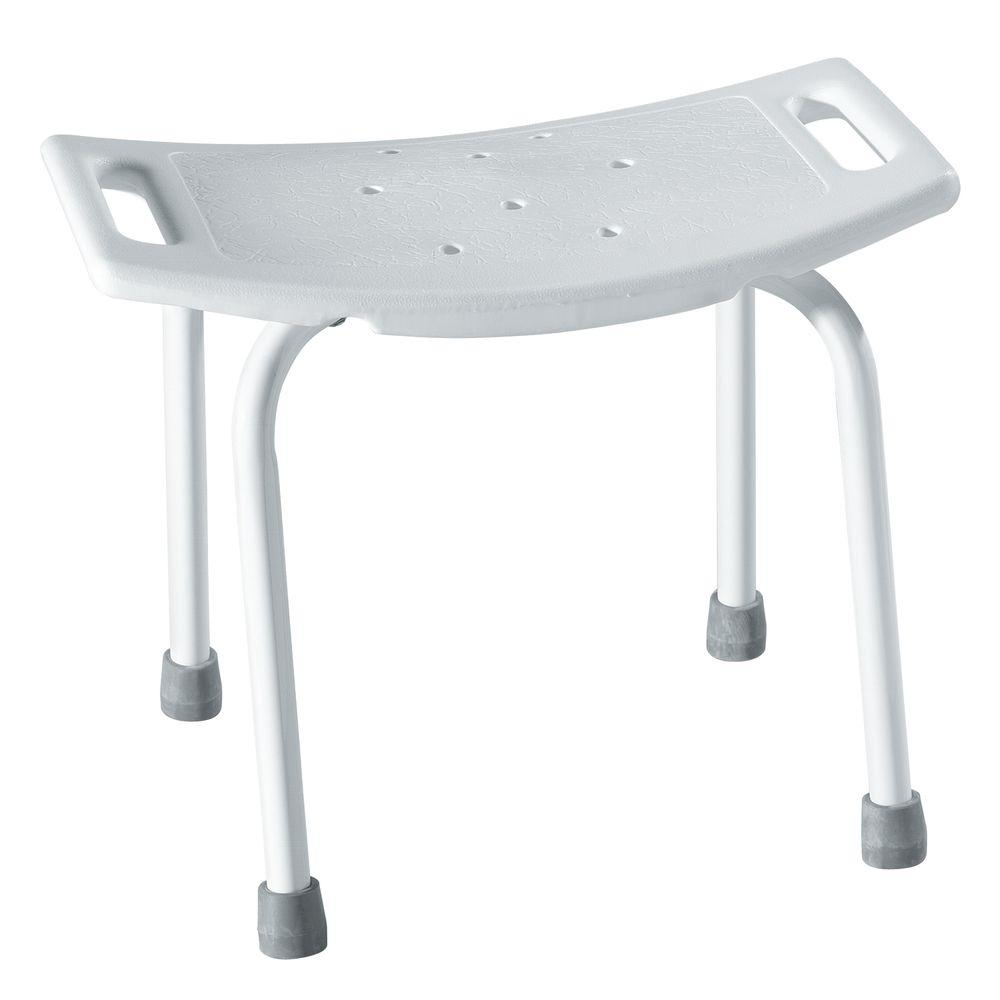 Superior D Plastic Shower Seat In Glacier White DN7035   The Home Depot