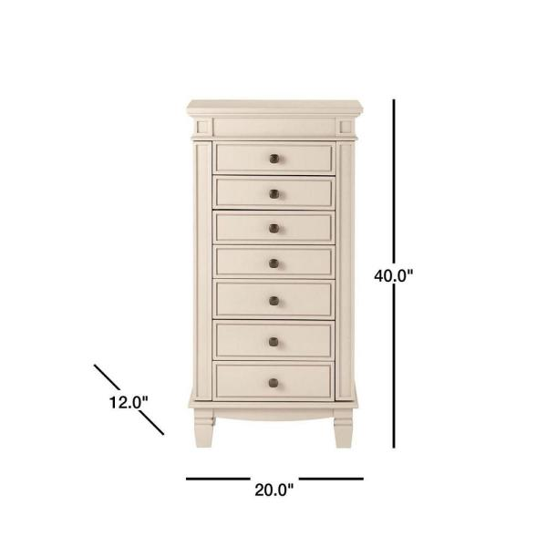 Home Decorators Collection Cordelia Whetstone Grey Jewelry Armoire 9833800270 The Home Depot