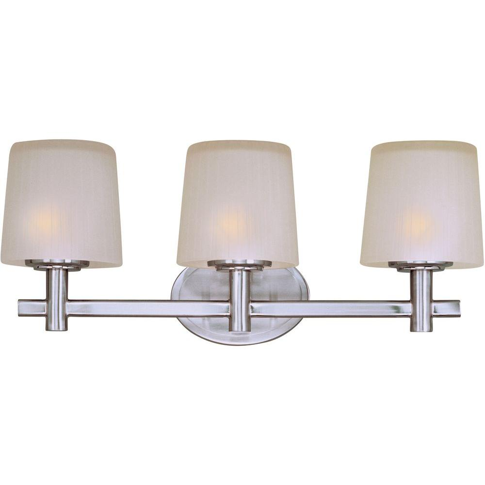 Finesse 3-Light Satin Nickel Bath Vanity Light