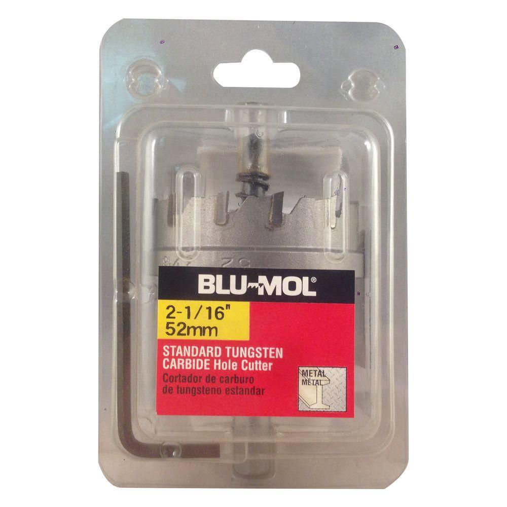 BLU-MOL 2-1/16 inch Standard Tungsten Carbide Hole Cutter by BLU-MOL