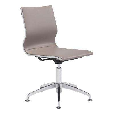 Glider Taupe Leatherette Conference Office Chair