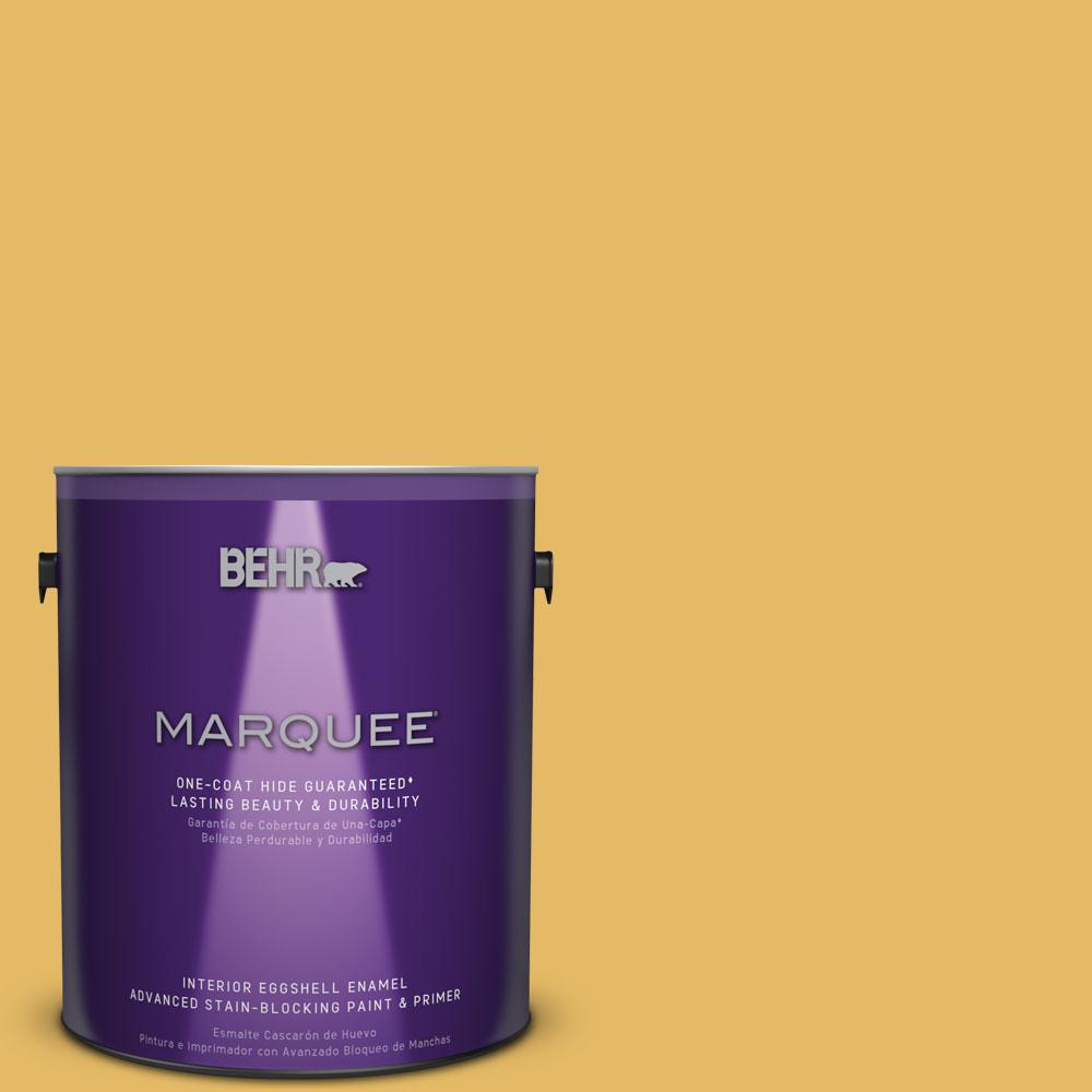 1 gal. #MQ4-12 Dandelion Wish One-Coat Hide Eggshell Enamel Interior Paint