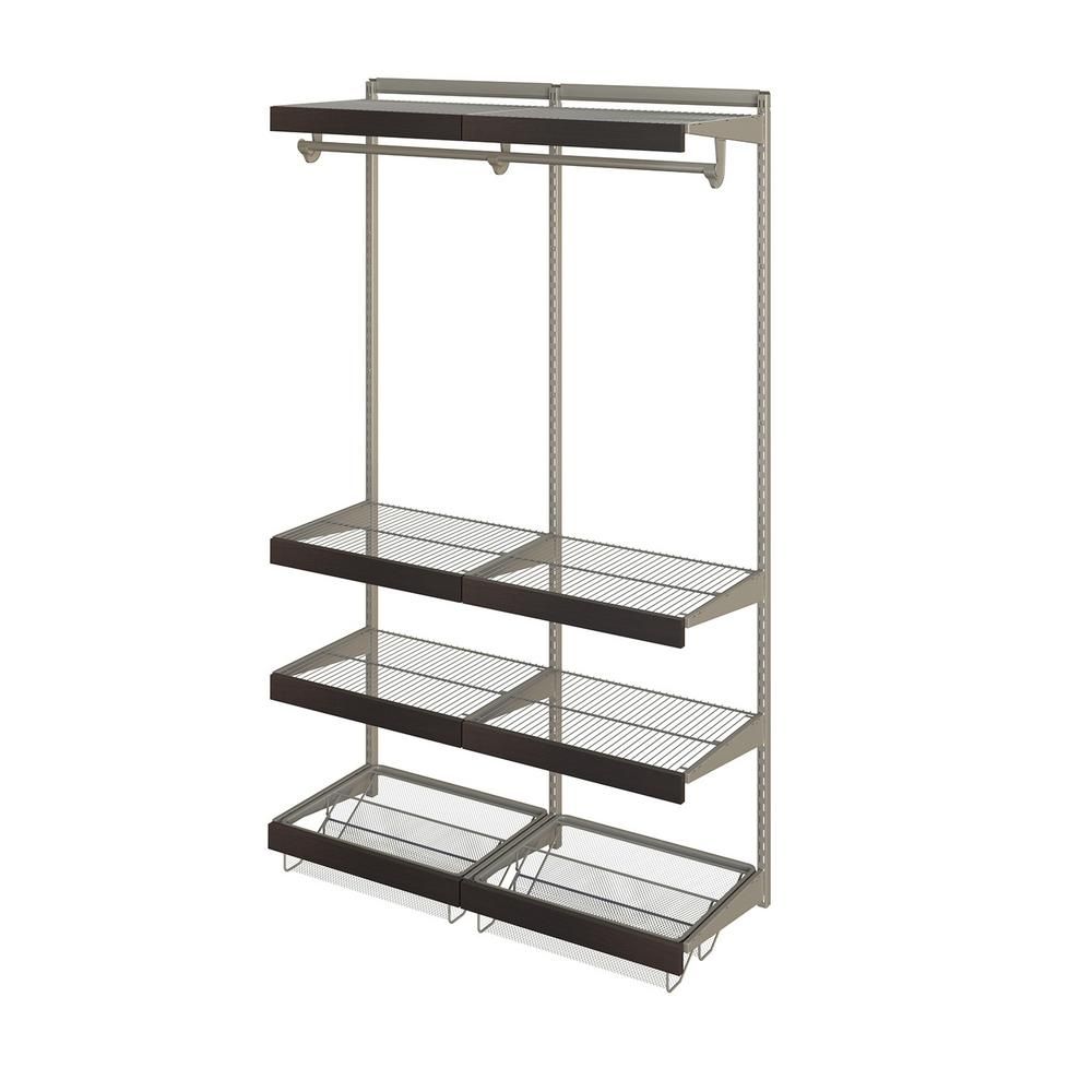 Closet Culture 16 in. x 48 in. W x 78 in. H Wire Closet System with ...