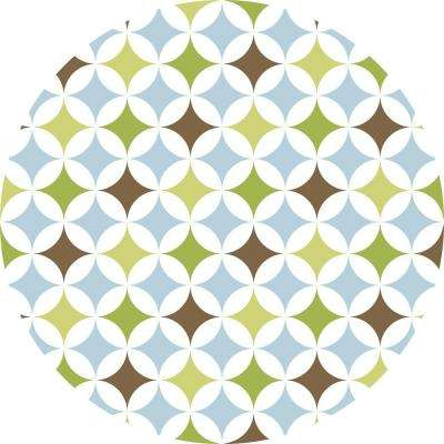 13 in. x 13 in. Geo Dot 8-Piece Wall Decal