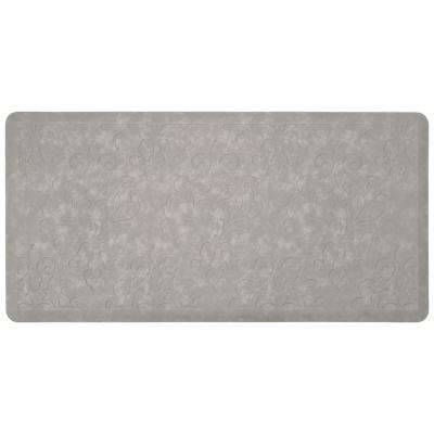 Marni Grey 39 in. x 20 in. Embossed Gelness Mat