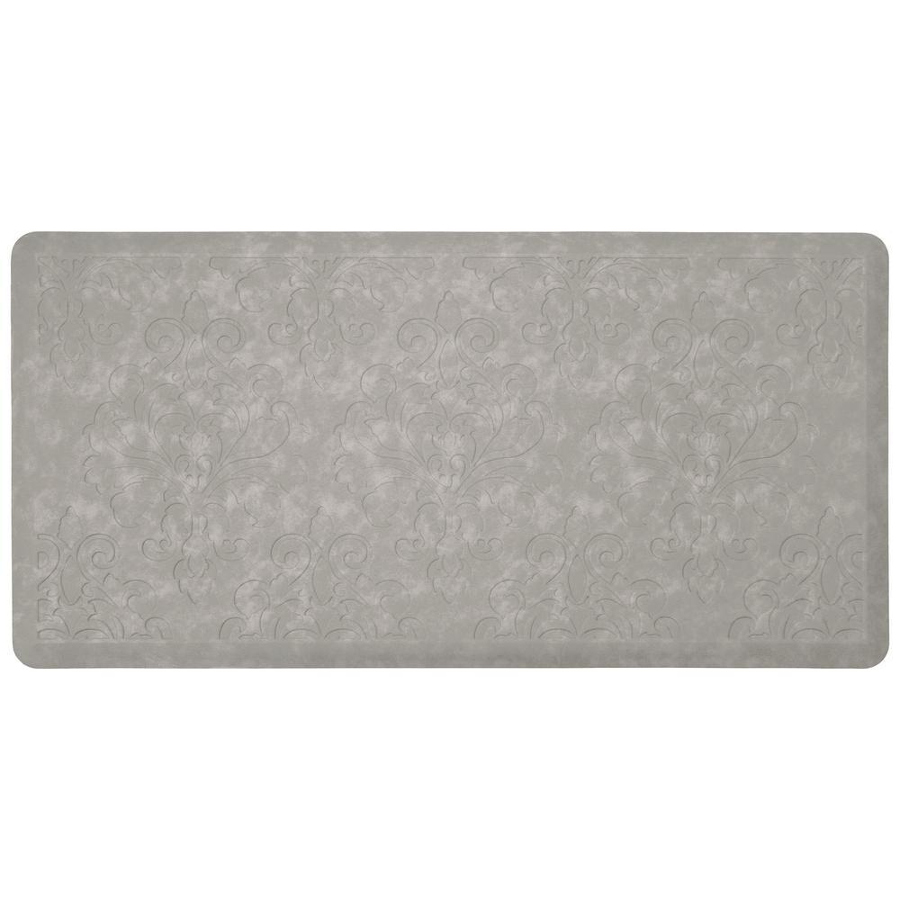 Marni Grey 39 in. x 20 in. Embossed Gelness Mat