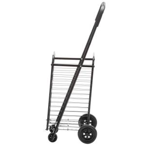 Honey-Can-Do Steel Rolling 4-Wheel Utility Cart in Black by Honey-Can-Do