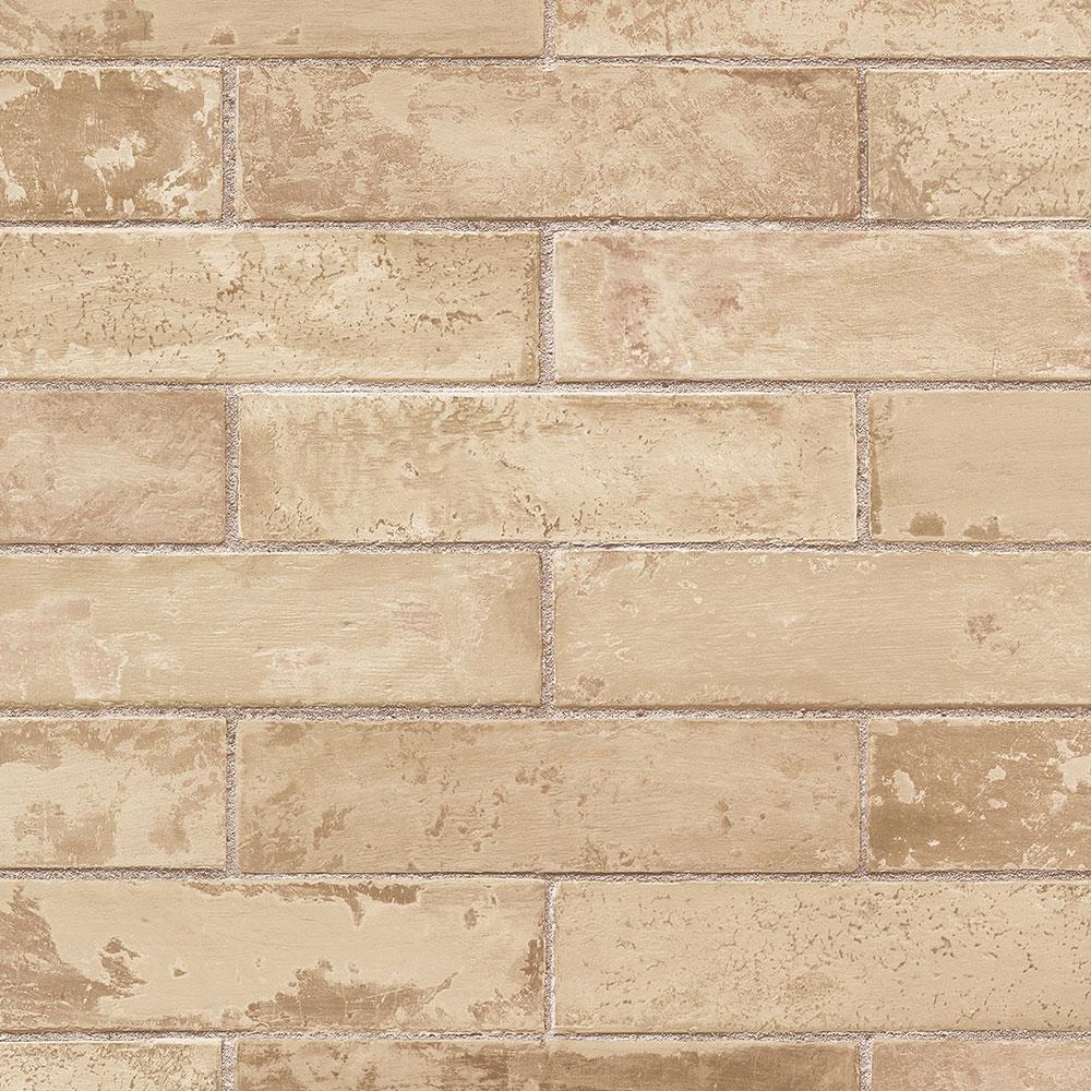 Norwall Swiss Brick Wallpaper Te29327 The Home Depot