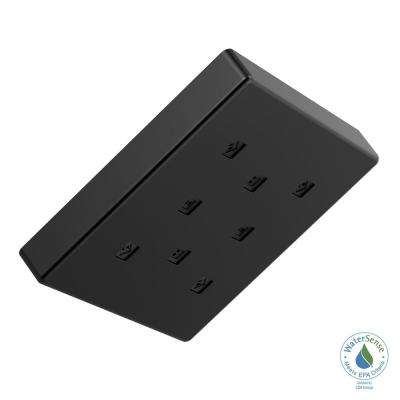 1-Spray 6 in. Square Showerhead with H2Okinetic Technology in Matte Black
