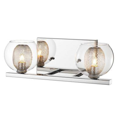 Peak 2-Light Chrome Bath Vanity Light