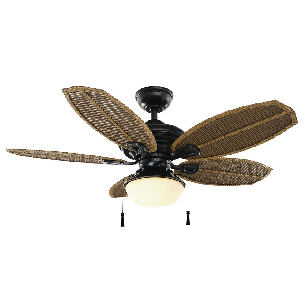 Hampton bay palm beach iii 48 in led indooroutdoor natural iron hampton bay palm beach iii 48 in led indooroutdoor natural iron ceiling fan aloadofball Image collections