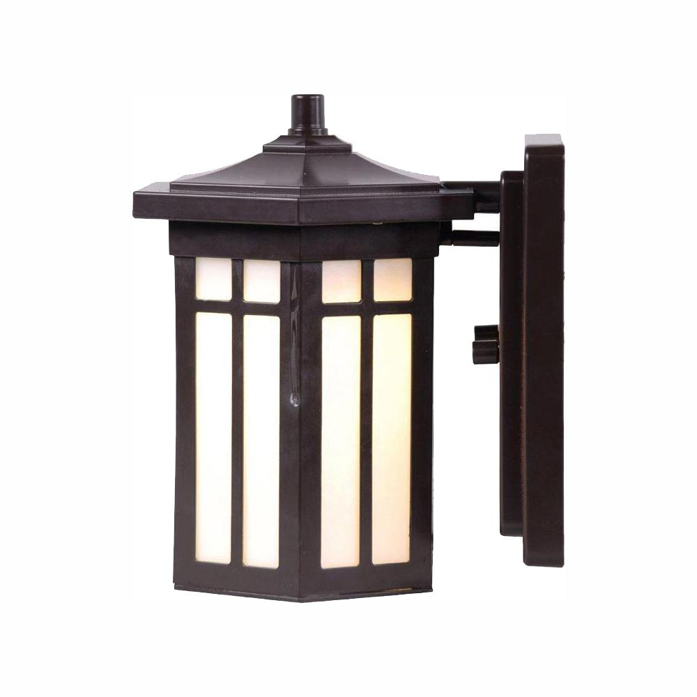 Home Decorators Collection Antique Bronze Outdoor LED Wall Lantern Sconce was $54.88 now $21.62 (61.0% off)