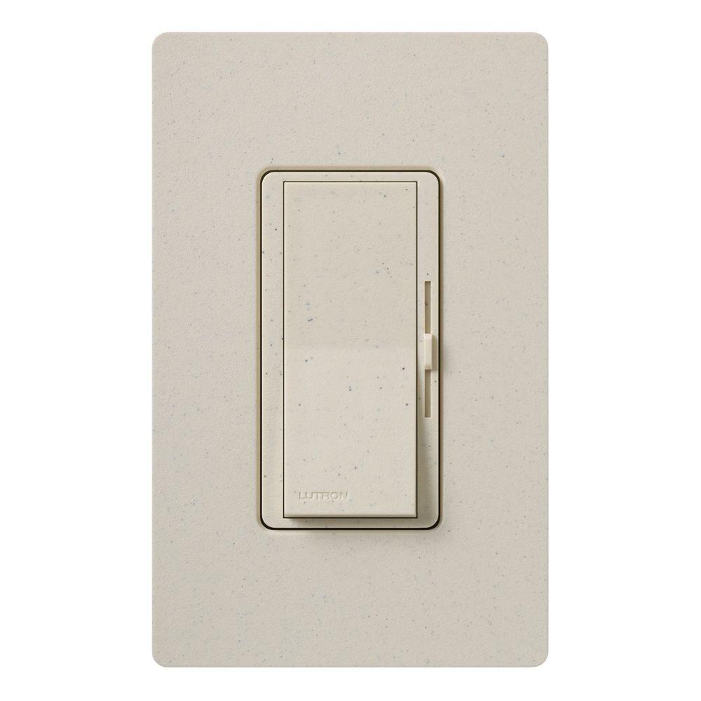 Diva Magnetic Low Voltage Dimmer, 450-Watt, Single-Pole, Limestone