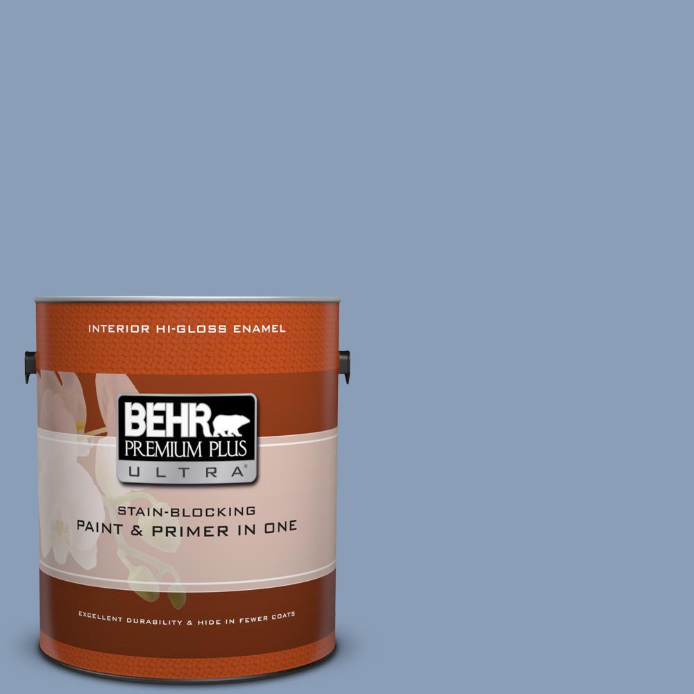 1 gal. #PPU15-10 China Silk Hi-Gloss Enamel Interior Paint