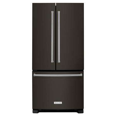 33 in. W 22.1 cu. ft. French Door Refrigerator in Black Stainless