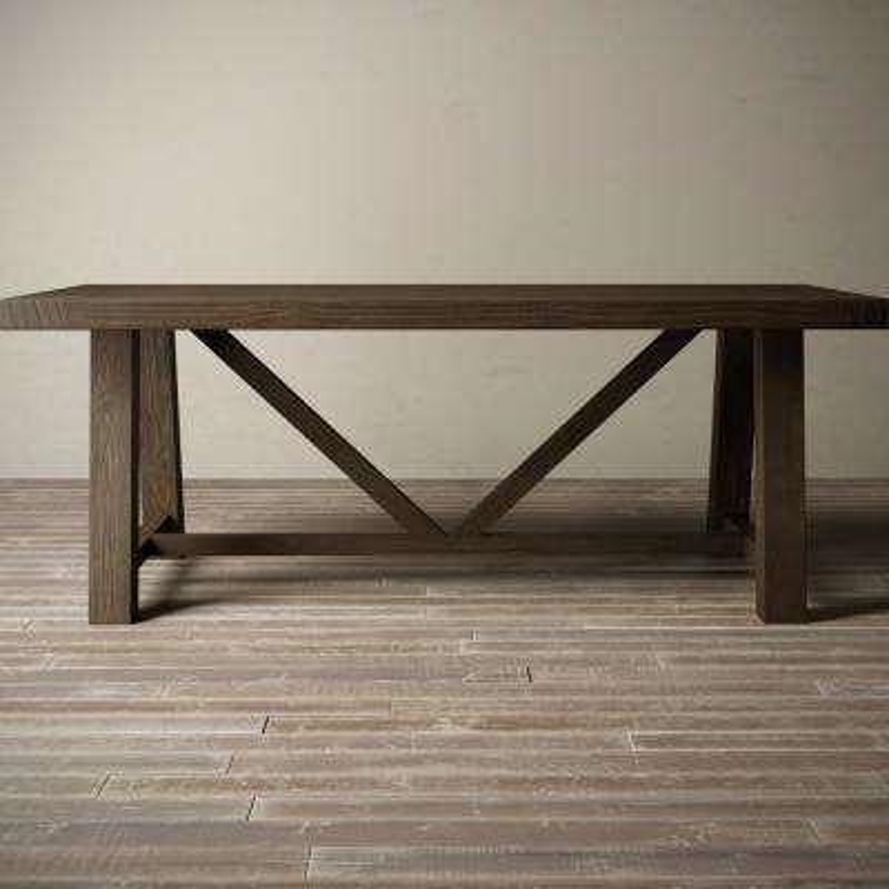 Andora 78 in. Salvaged Espresso Dining Table