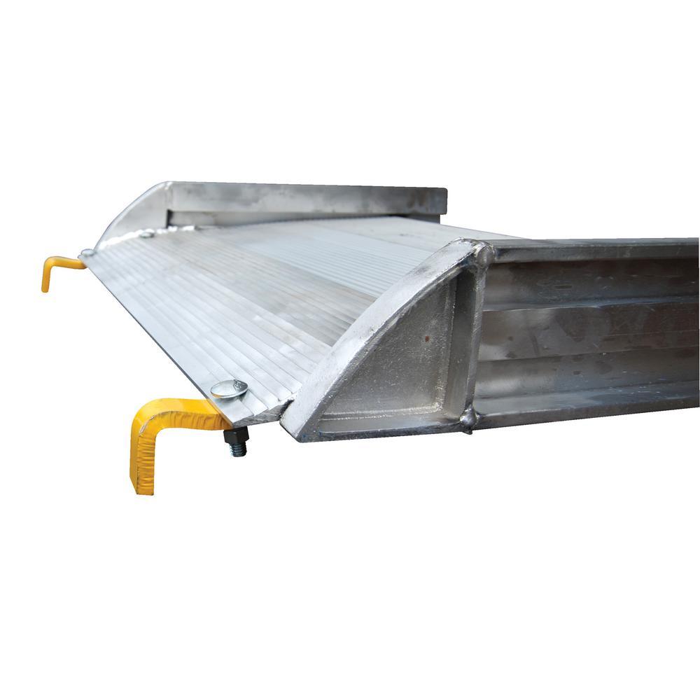 Vestil 72 in. x 38 in. Aluminum Walk Ramp Hook Style