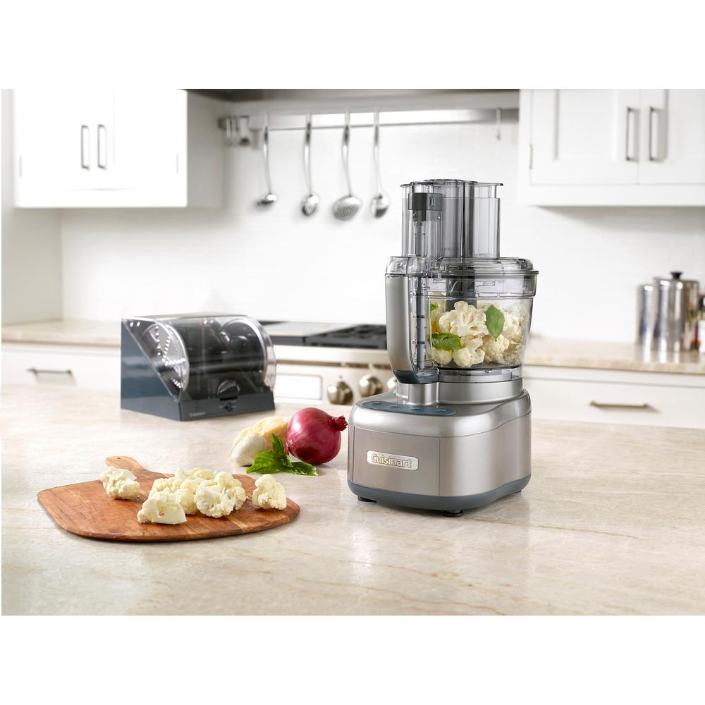 Gun Metal Gray Elemental 13-Cup Food Processor and Dicing Kit